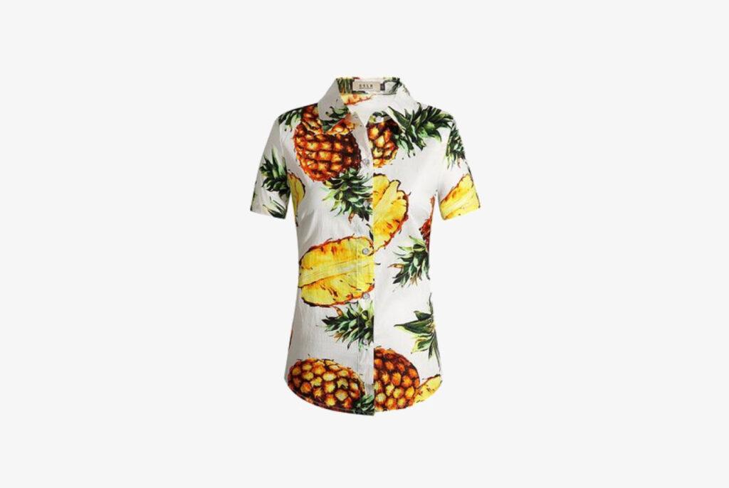 Hawaiian printed button down shirt