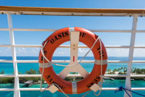 Lifesaver on a cruise ship