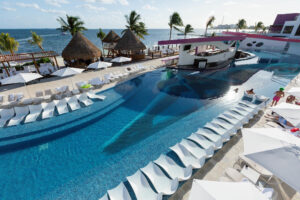 The Sexy Pool at Temptation Cancun Resort Mexico