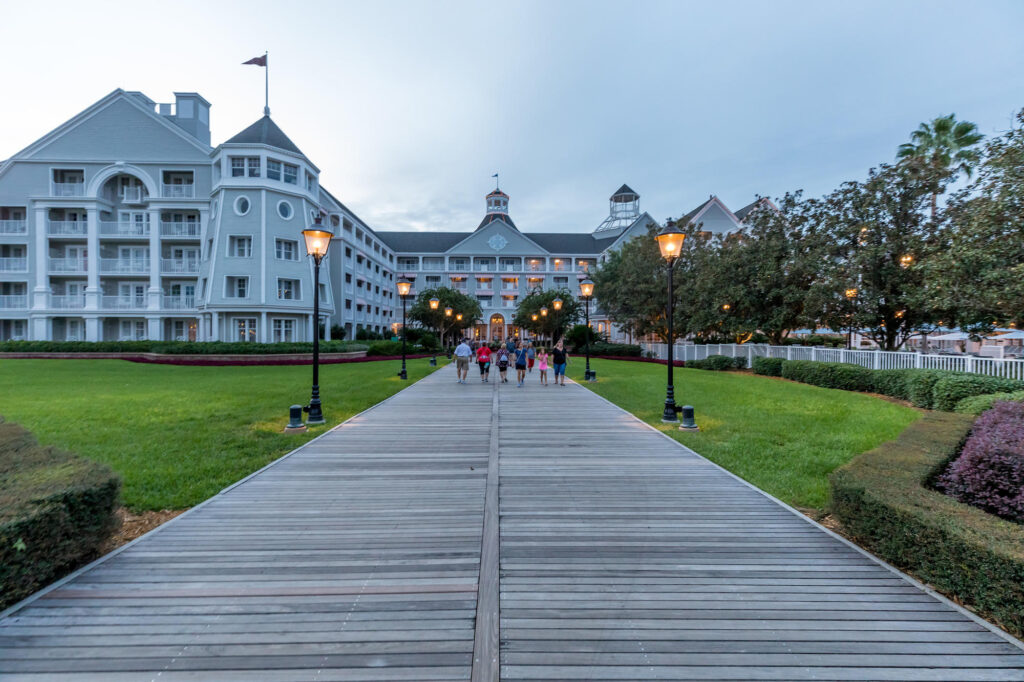 Grounds at the Disney's Yacht Club Resort