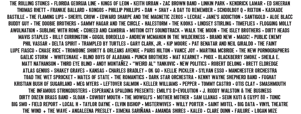 Summerfest 2015 Lineup (Photo credit: summerfest.com)