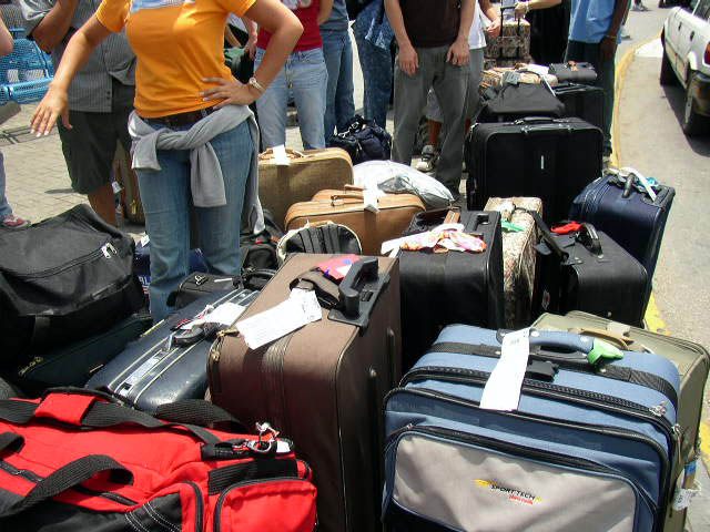 This is WAY too many bags... Photo Credit: Katy Warner