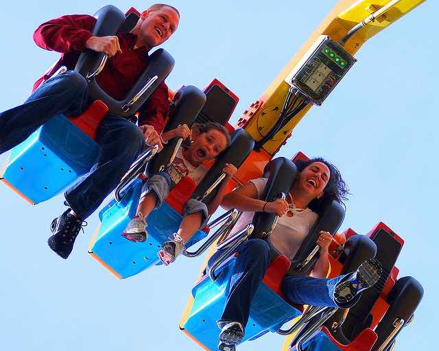 Conquer some thrilling ups and downs at Knott's Berry Farm. Photo by Bryce Bradford, Flickr Creative Commons
