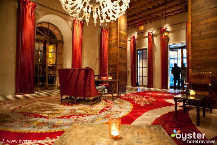 The lobby at The Gramercy Park Hotel