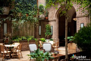 The courtyard at The Greenwich Hotel