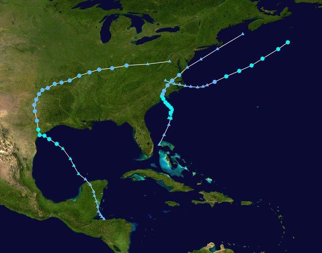 Piste di cicloni tropicali nell'Atlantico nel 2015