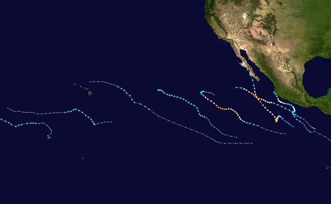 Piste di cicloni tropicali nel Pacifico nel 2015
