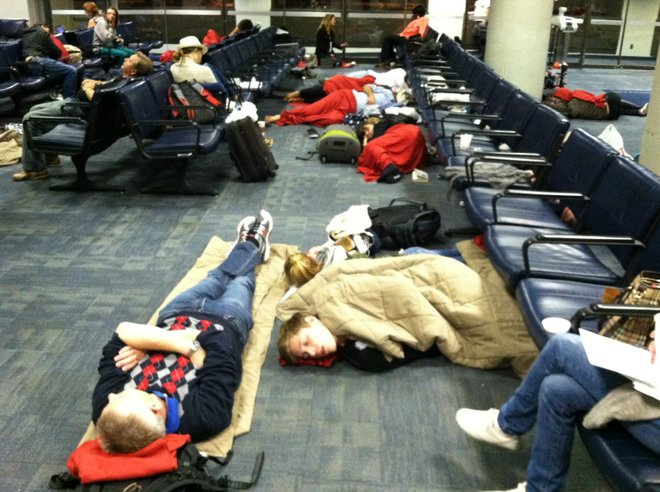 Airlines don't have to put you up for the night if your flight is canceled, and many choose not to. Photo courtesy of Kevin Prichard Photography, Flickr