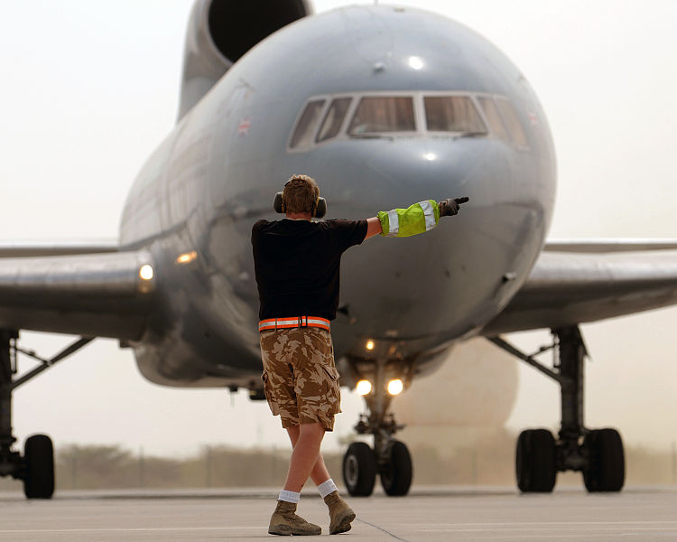 If it is delayed longer than that, expect to get sent back to the gate. Photo courtesy of Sgt Pete Mobbs RAF/MOD