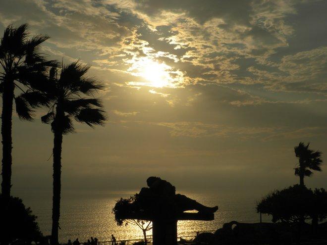 Pôr do sol no Parque del Amor / Crédito da foto: Mislene Santos