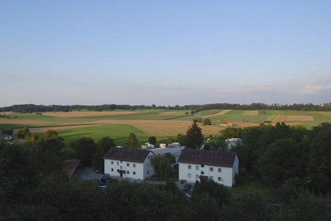 View from the outdoor Biergarten at the Andechs' Klosterbrauerei; Photo credit: Katherine Alex Beaven