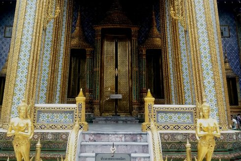 The Wat Phra Kaew in Bangkok's Grand Palace complex