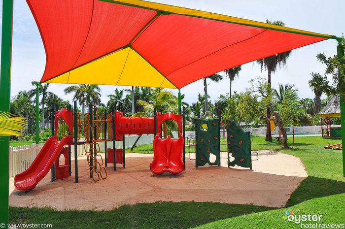 Half Moon's playground is one of the resort's many family features.
