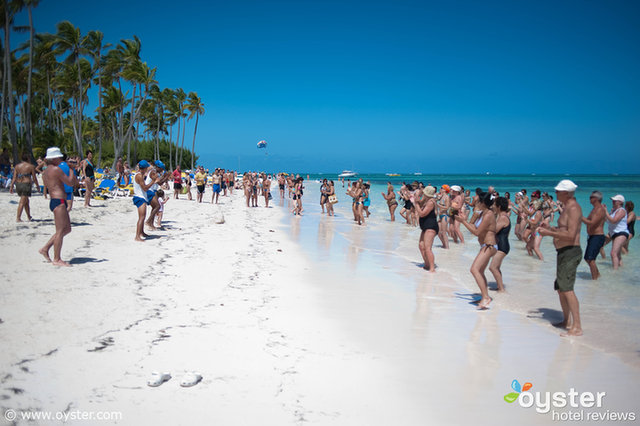 The beach at the Barcelo Bavaro Palace in Punta Cana, Dominican Republic