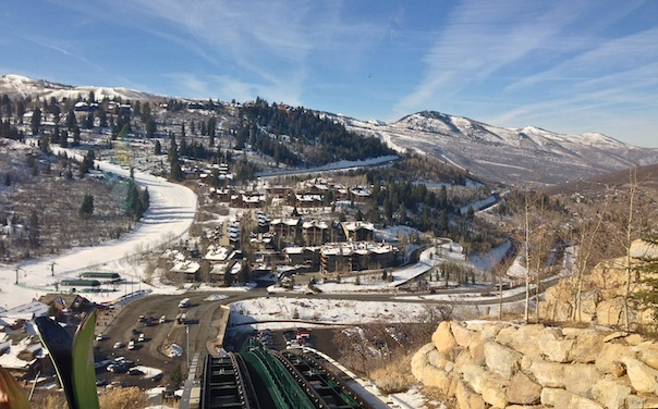 View of Deer Valley from the The St. Regis Deer Valley Funicular. Photo by Andrew Villagomez