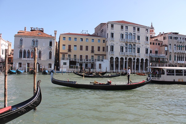 The canals of Venice; Photo by Andrew Villagomez