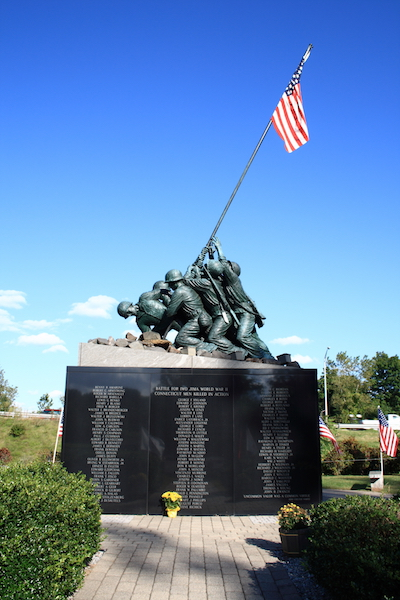 Memorial sculpture at the National Iwo Jima Memorial (Photo Courtesy Of: Wikimedia Commons)
