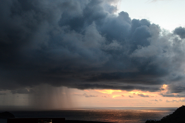 In Costa Rica, even rain storms can be beautiful. (Photo courtesy of Dan Farrelly)