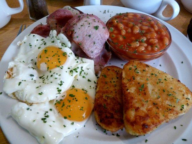 Um café da manhã irlandês (aparentemente incompleto) - foto gentilmente cedida pela Irish Jaunt .