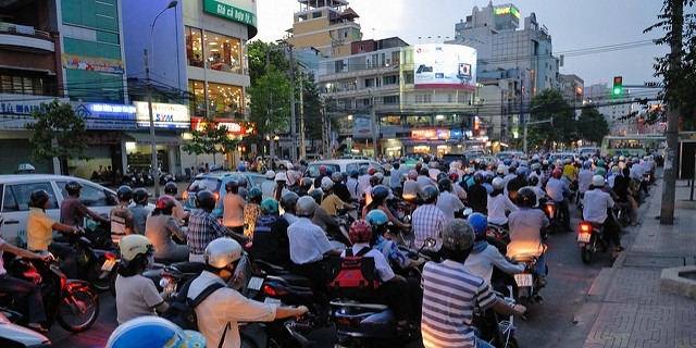 Busy streets of Saigon (HCMC). Photo courtesy of Flickr/M M.