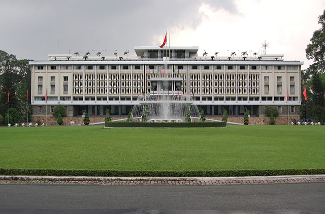 Reunification Palace. Photo courtesy of Flickr/Gregor Dodson.