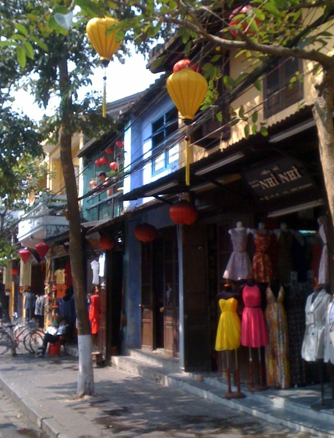 Tailor shops in Hoi An.