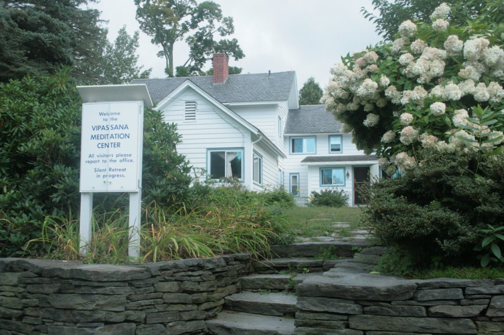 Entrance to Vipassana Center in Shelburne
