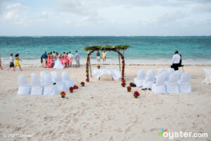 Wedding on the beach at the Melia Caribe Tropical