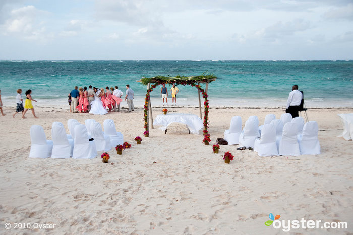 Wedding on the beach at the Melia Caribe Tropical