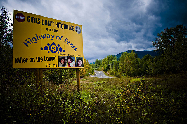 Sign along Highway 16, taken by lzithombe