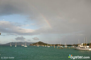 Rainbow over a bay in St. Thomas