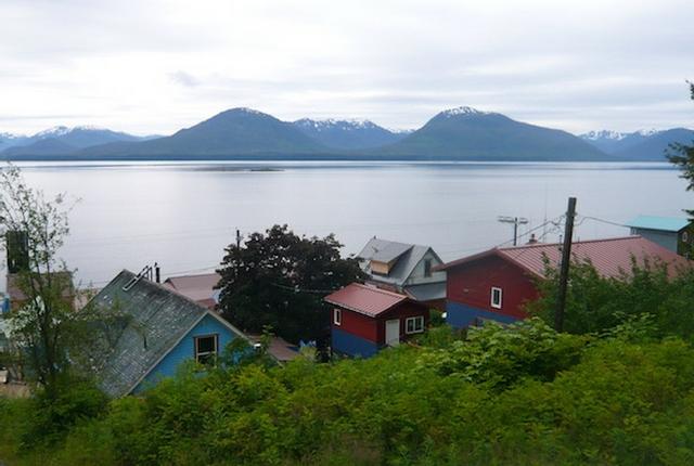The little Alaskan town of Tenakee Springs.