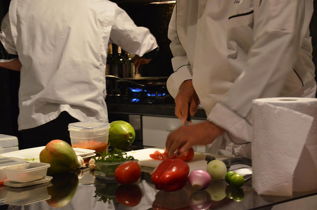 Ceviche preparation by Chef Israel Lopez. Photo Credit: Joe Ross