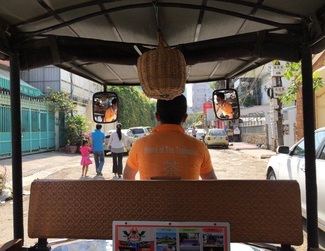 Tuk-tuk in Phnom Penh; image courtesy of Kyle Valenta.