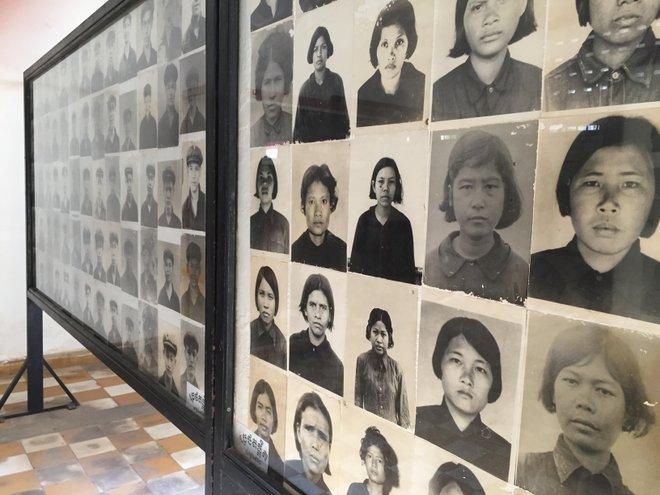Victims of Khmer Rouge at Tuol Sleng; image courtesy of Kyle Valenta.