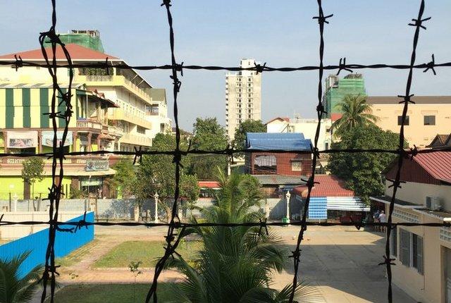 Inside Tuol Sleng Prison; image courtesy of Kyle Valenta.