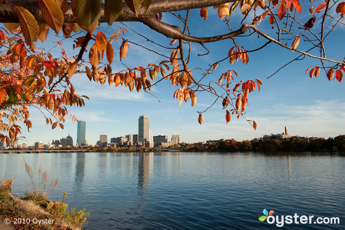 View of the Charles River in Boston