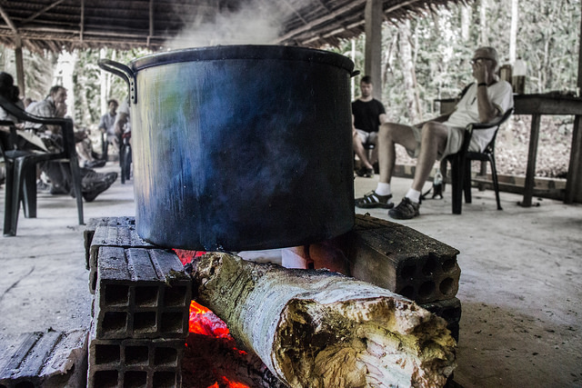 Photo of Ayahuasaca brewing by Paul Hessell via Flickr