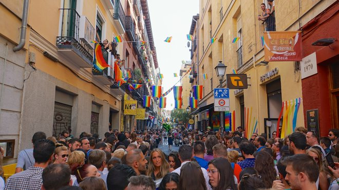 Madrid Pride in Chueca image courtesy of Ted Eytan.