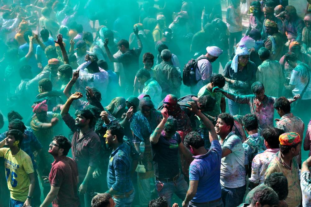Holi celebration image courtesy of Abhijit Kar Gupta