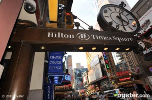 The street at the Hilton Times Square
