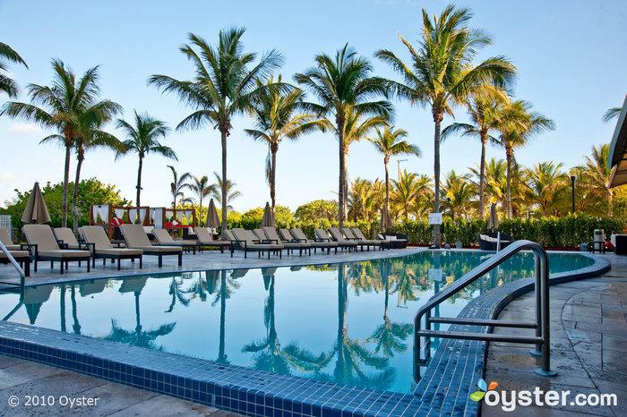 The main pool at the Hilton Bentley Miami