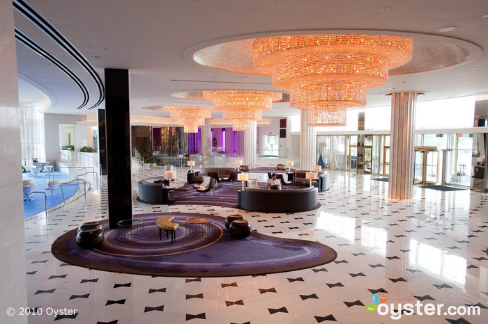 The lobby at the Fontainebleau Resort
