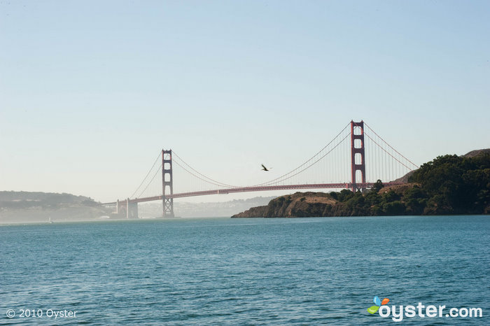 The iconic Golden Gate Bridge in San Francisco