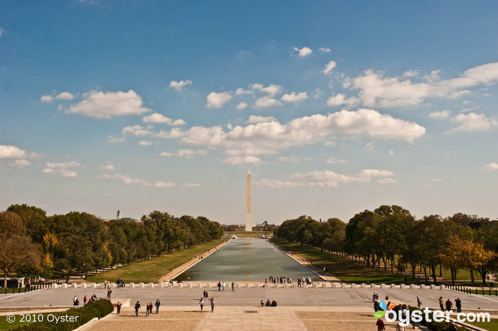 View of the Washington Monument at the Mall