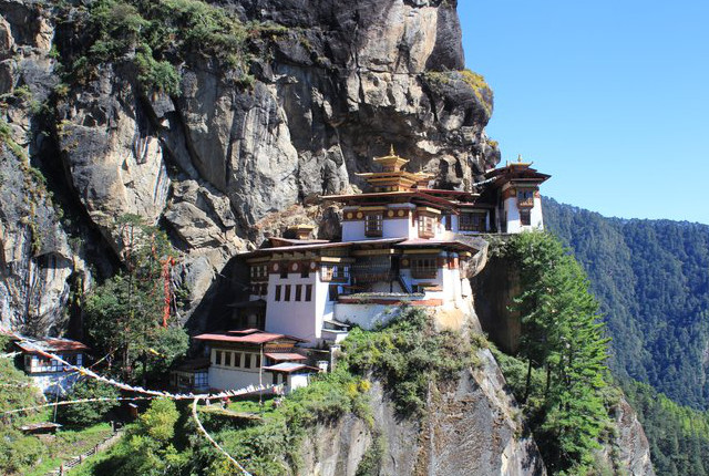 Paro Taktsang, also known as the Tiger's Nest monastery. Courtesy of Flickr/Arian Zwegers