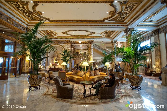 The lobby at The Fairmont San Francisco