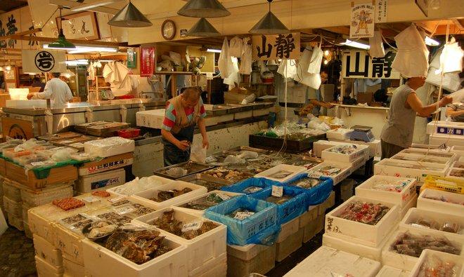 Tsukiji Fischmarkt; Foto mit freundlicher Genehmigung von Greg Palmer über Flickr