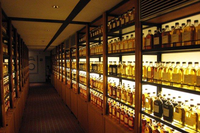 The whiskey library at Yamazaki. Courtesy of Flickr/Ethan Prater