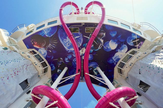 The Ultimate Abyss Slides on Royal Caribbean International's Harmony of the Seas